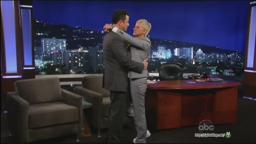 Ellen DeGeneres On Jimmy Kimmel Live Jan 14 2013