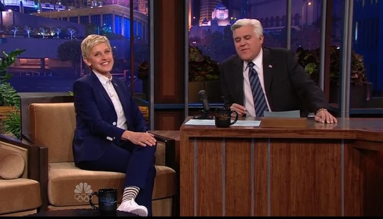 Ellen DeGeneres Interview Jay Leno Nov 06 2013