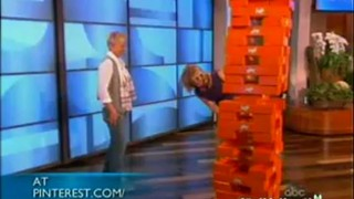Ellen And Alison Sweeney Play Giant Jenga Apr 10 2012