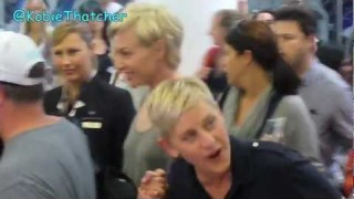 Ellen Arrives In Australia Mar 22 2013
