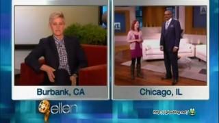 Ellen in Steve Harvey's Ear Feb 22 2013
