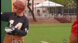 Ellen Plays Football With The Saints