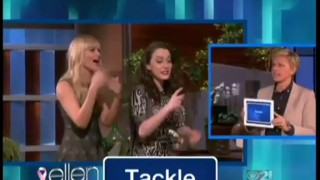 Kat Dennings and Beth Behrs Play Heads Up Oct 14 2013
