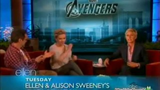 Scarlett Johansson and Robert Downey Jr. Interview And Game May 04 2012