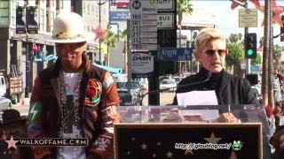 Ellen DeGeneres At The Pharrell Williams Walk of Fame Ceremony