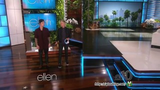 Ellen & Justin Bieber Scare Audience Members Feb 05 2015