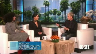 Kim Kardashian West & Tracee Ellis Ross Play Play Never Have I Ever Sept 30 2015