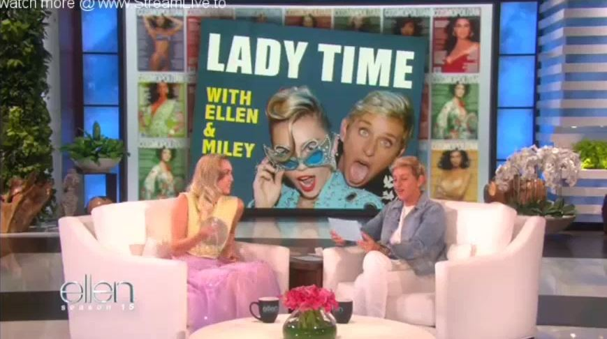 Miley Cyrus And Ellen Play Lady Time Sept 07 2017