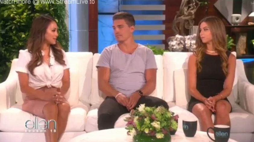"""Bachelor in Paradise"" Dean Unglert, Kristina Schulman & Danielle Lombard Sept 11 2017"