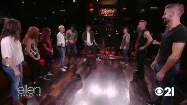 Channing Tatum And Ellen Visit Magic Mike Live Sept 15 2017