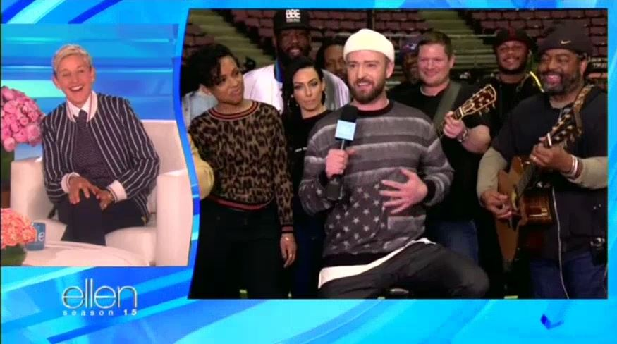 Justin Timberlake Surprises Ellen for Her Birthday Jan 26 2018