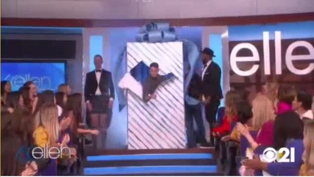 Channing Tatum Hide In Ellen's Birthday Box Feb 02 2018